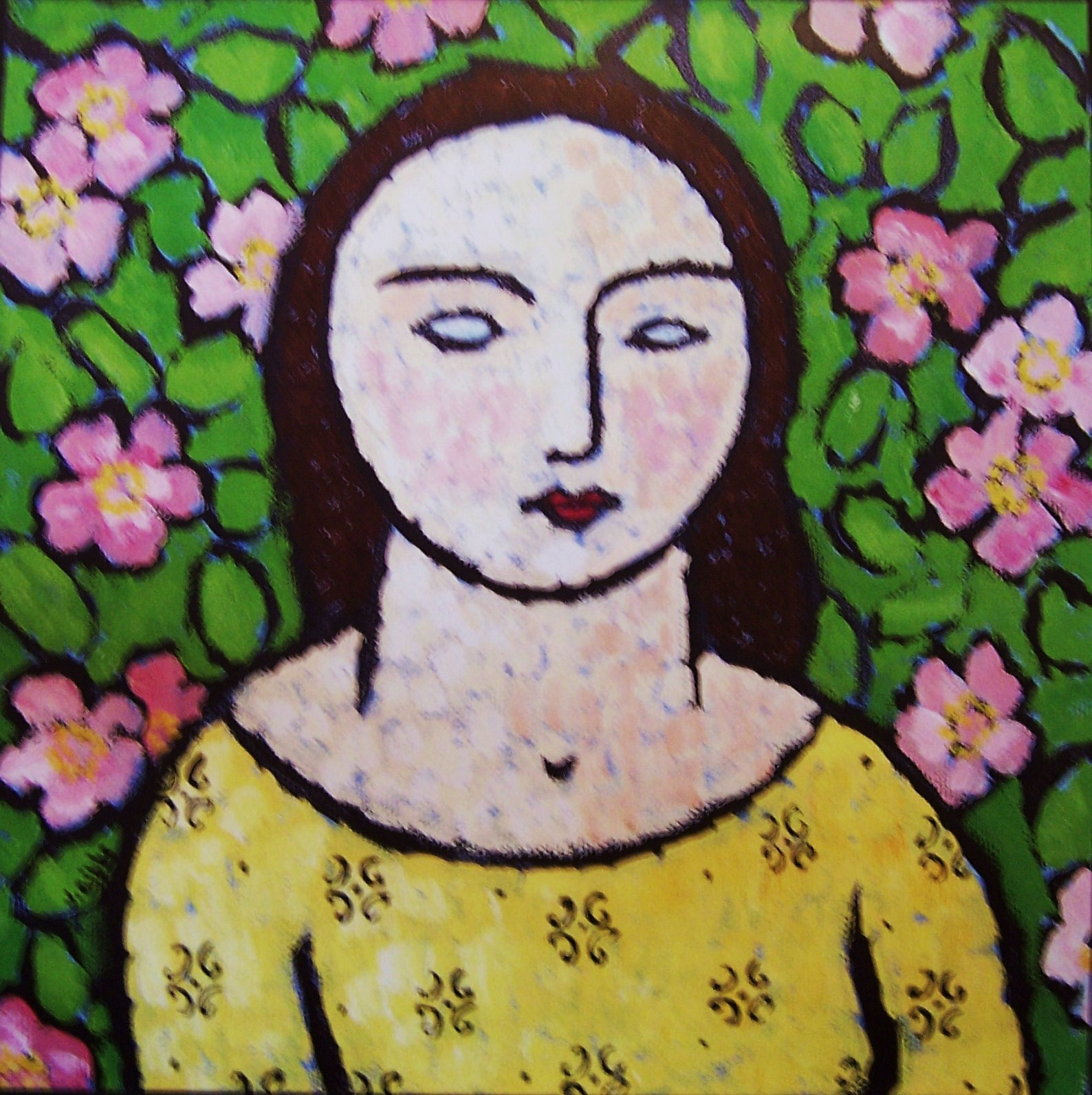 Woman With Apple Blossoms