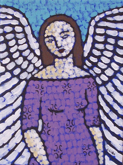 Angel in a Lilac Dress