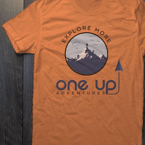 One Up Adventures Orange Tee