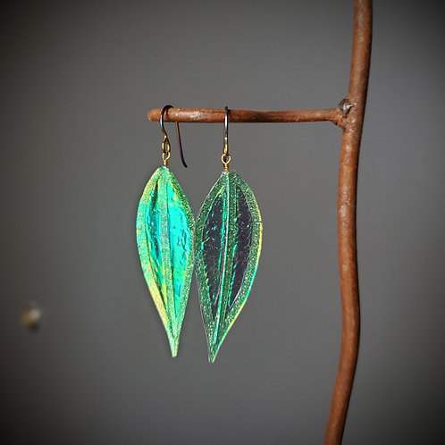 Bamboo Leaf Flutter Earrings