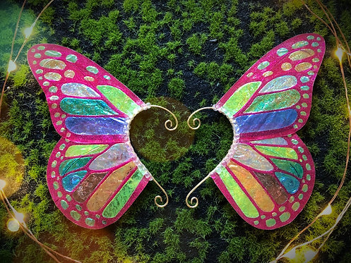 Rainbow Monarch Butterfly Earpiece Set