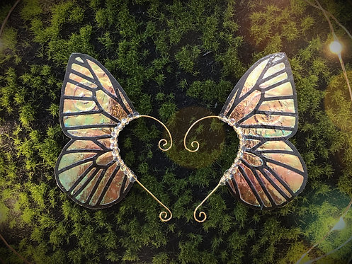 Medium Forest Blaze Butterfly Earpiece Set