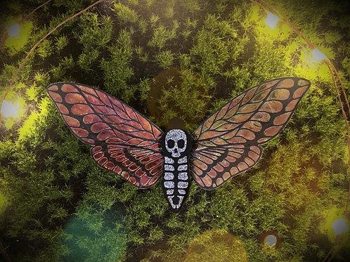 Deaths Head Moth Hairclip