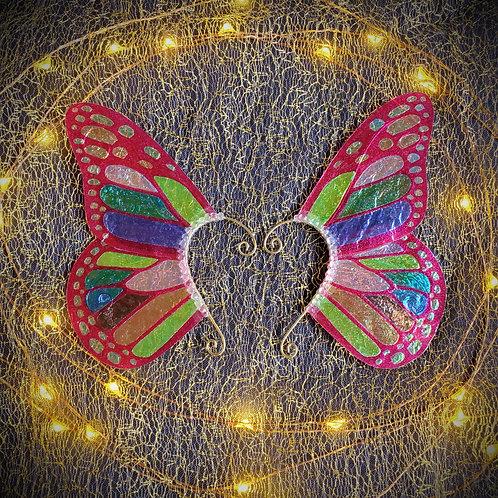 Rainbow Monarch Butterfly Earpiece Set