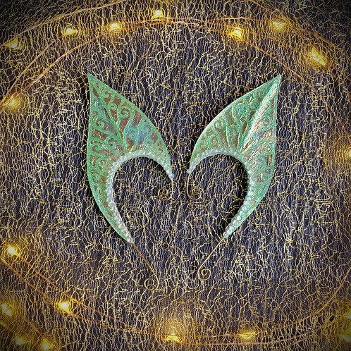 Large Elven Leaf Earpiece Set