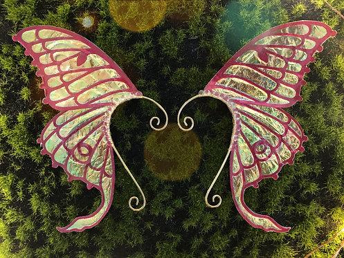 Magenta Luna Moth Earpiece Set