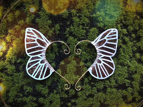 Small Forest Blaze Holographic Butterfly Earpiece Set