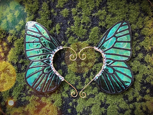 Medium Peacock Butterfly Earpiece Set