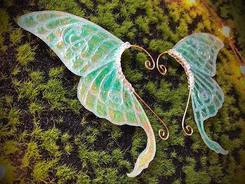 Silver Luna Moth Earpiece Set
