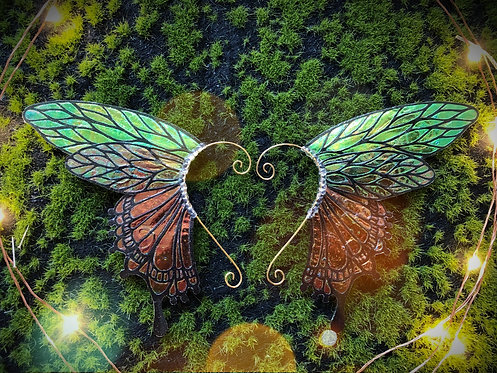 Emerald Swallowtail Earpiece Set