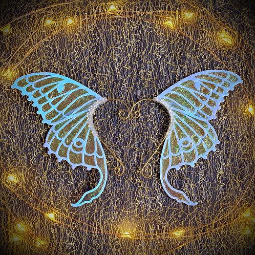Opal Luna Moth Earpiece Set