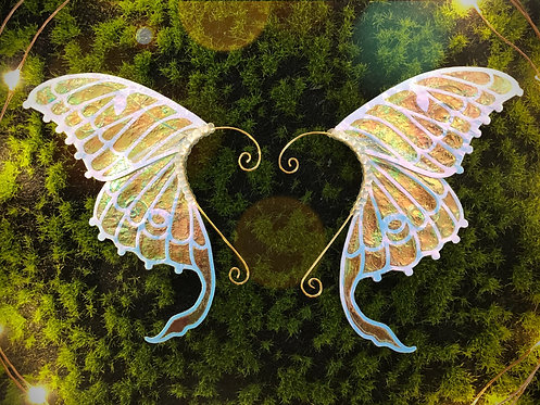 Opal Luna Moth Earpiece Set