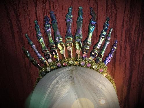 Iridescent Finger Bones Headdress