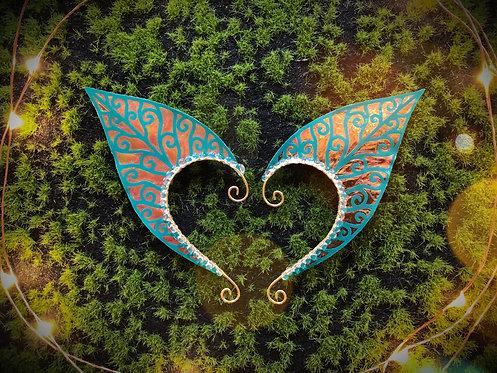 Large Elven Leaf Earpiece Set (reflective)