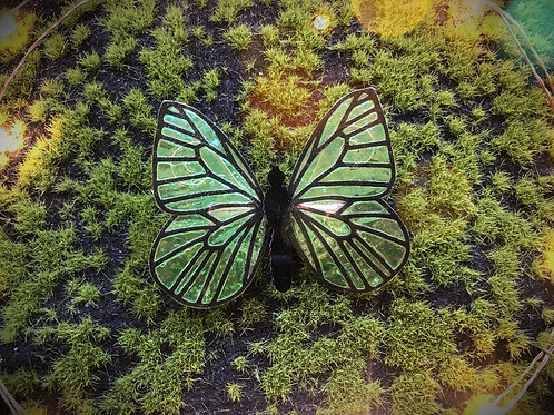 Green Butterfly Hairclip