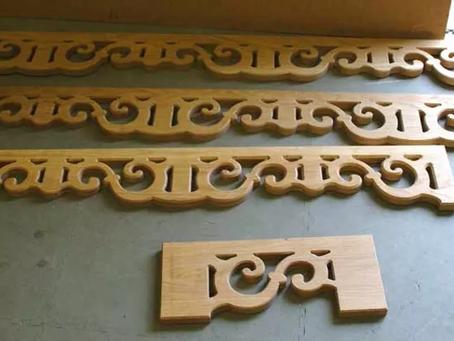 Oak Scrolls for Staircase