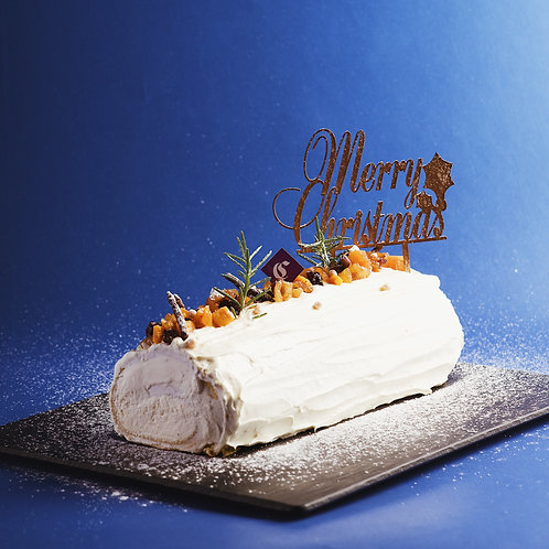 Apple Cream Buche De Noel