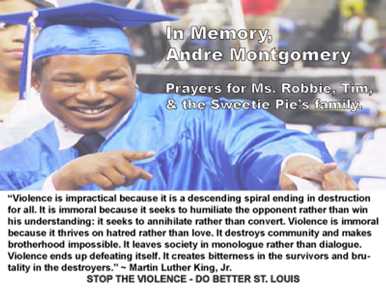 Andre Montgomery; Stop the Violence St. Louis