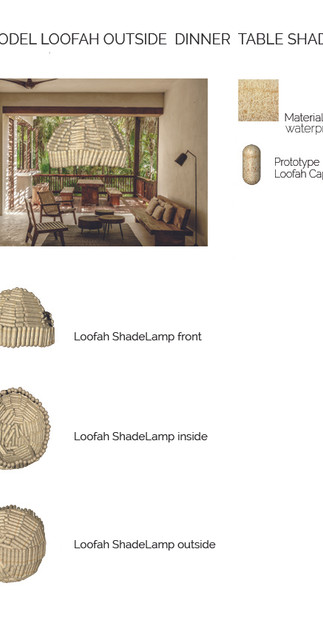 3D LOOFAH OUTSIDE SHADE DINNER TABLE