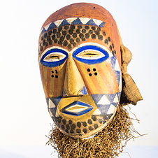 Art africain masque no 0028- 45 x 27 cm)