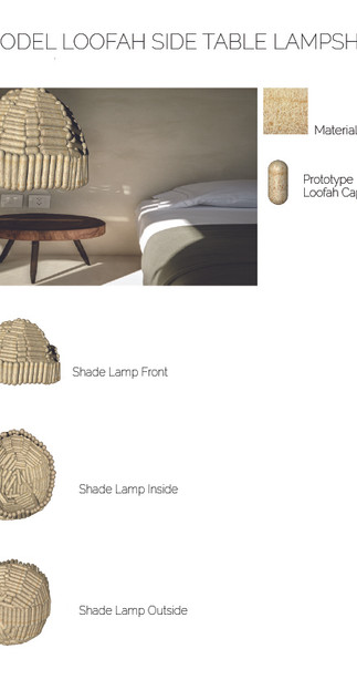 3D LOOFAH OUTSIDE SHADE LAMP SIDE TABLE