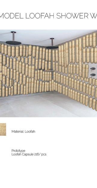 3D LOOFAH SHOWER WALL