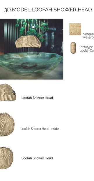3D LOOFAH SHOWER HEAD