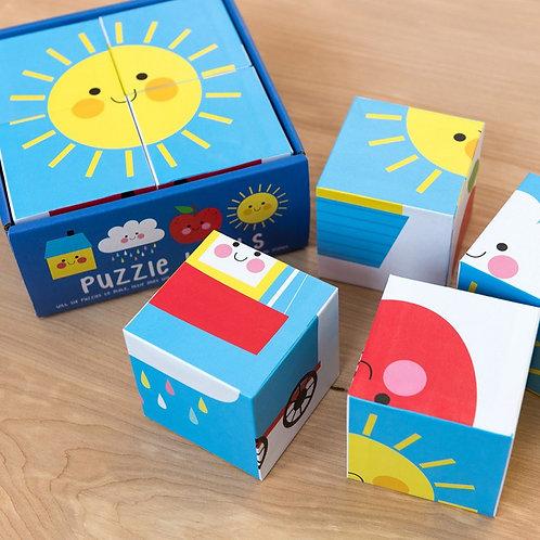 Happy cloud puzzle blocks