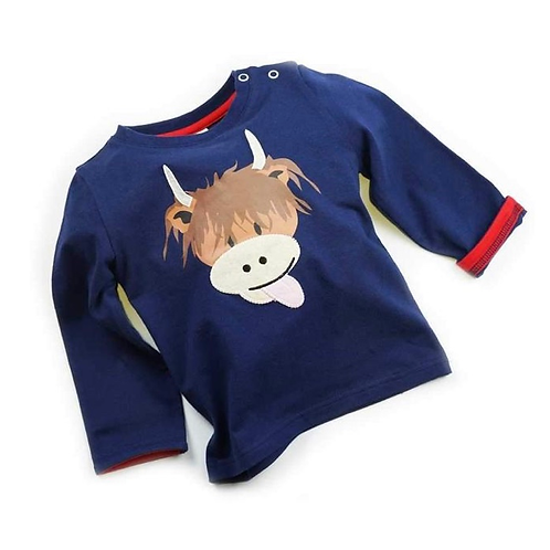 Highland Cow long sleeved top