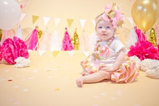 First birthday in studio session