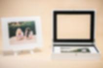 Photo keepsake box with easle