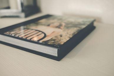 photo album with acrylic cover