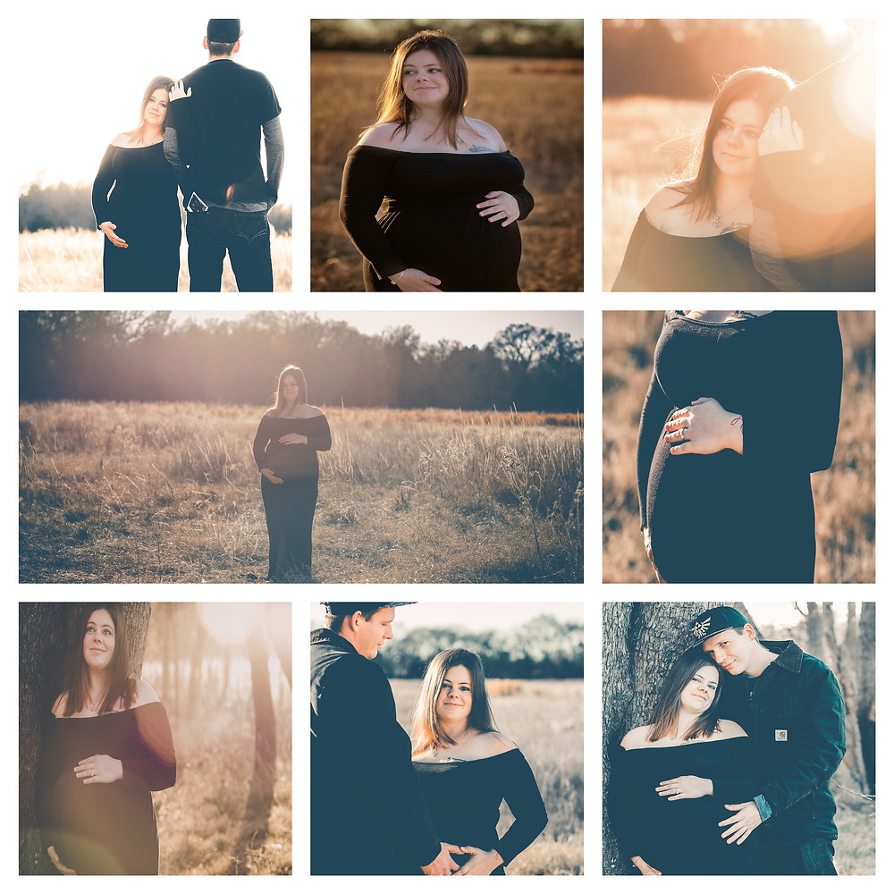 A winter maternity session in Mabank Texas