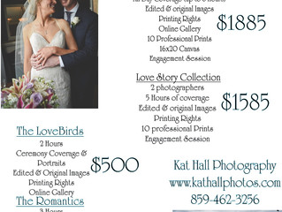 New Wedding Pricelist
