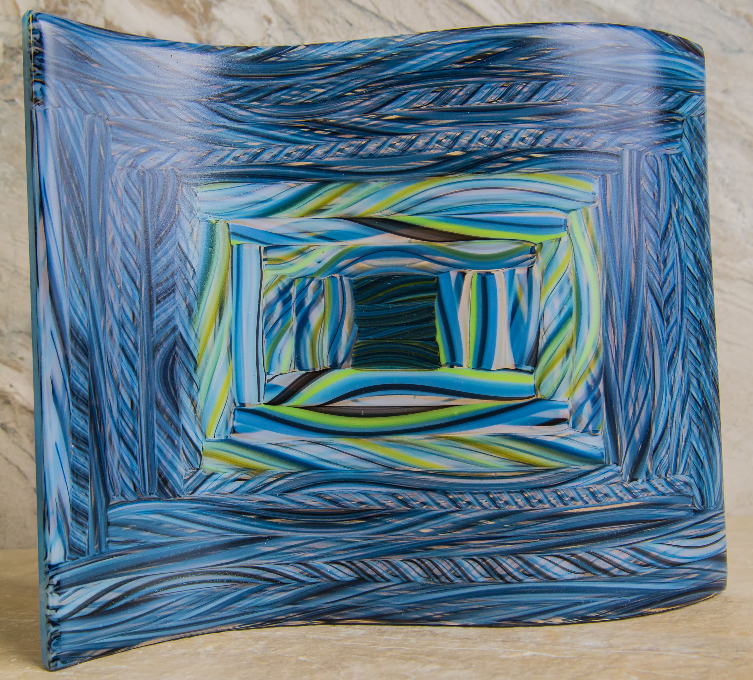 "Blue Wave - 8-3/4""W x 7-3/8""H"