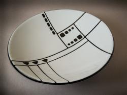 "Black+White - 14-1/2"" bowl"