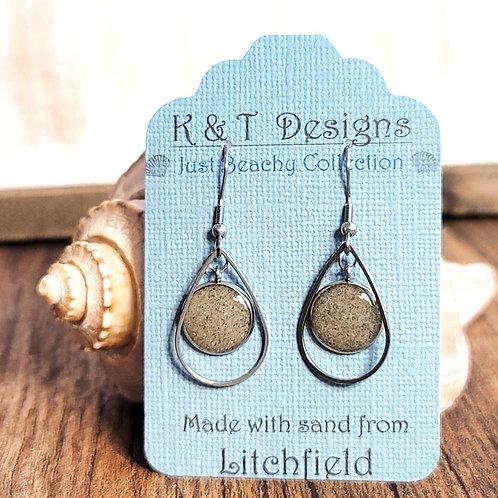 Litchfield Beach Sand Teardrop Dangle Earrings