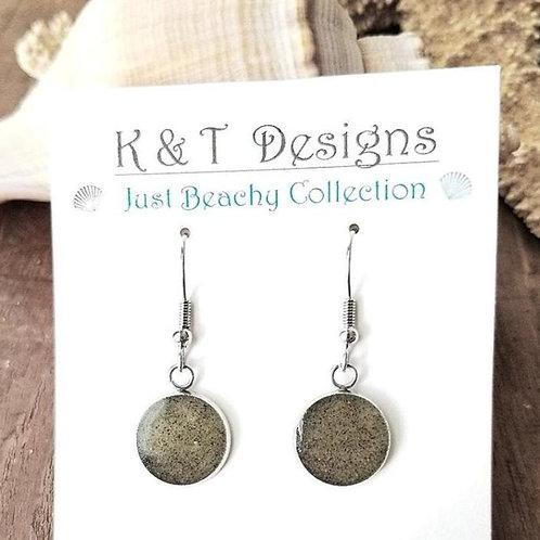 Custom Beach Sand Dangle Earrings