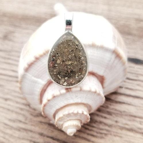 Edisto Beach Sand Teardrop Pendant