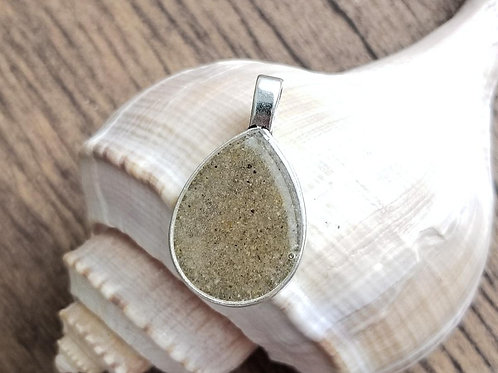 Virginia Beach Sand Teardrop Pendant Necklace