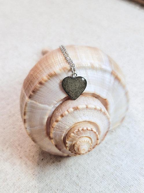 Myrtle Beach Sand Heart Pendant Necklace