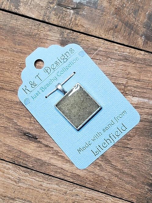 Litchfield Beach Sand Square Pendant / Necklace