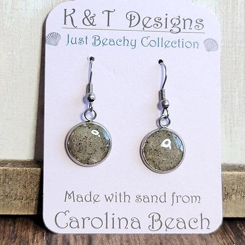 Carolina Beach Sand Dangle Earrings