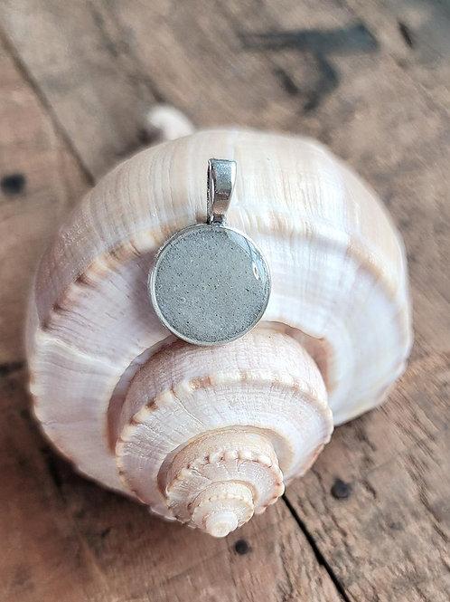 Siesta Key Beach Sand Small Circle Pendant / Necklaced
