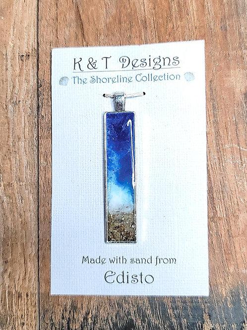 Edisto Beach Sand Shoreline Bar Pendant / Necklace
