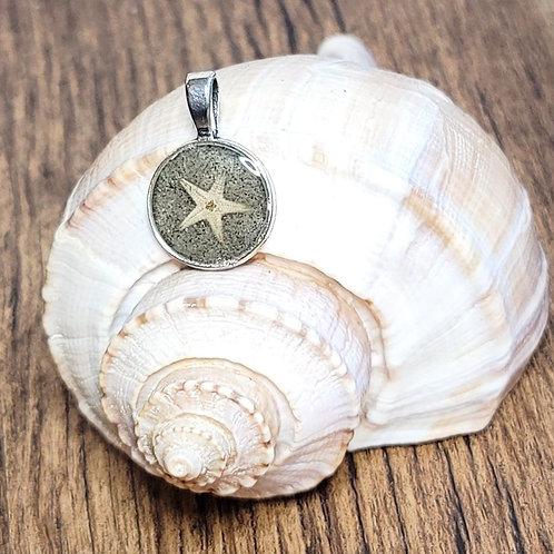 Isle of Palms Beach Sand Pendant with Starfish