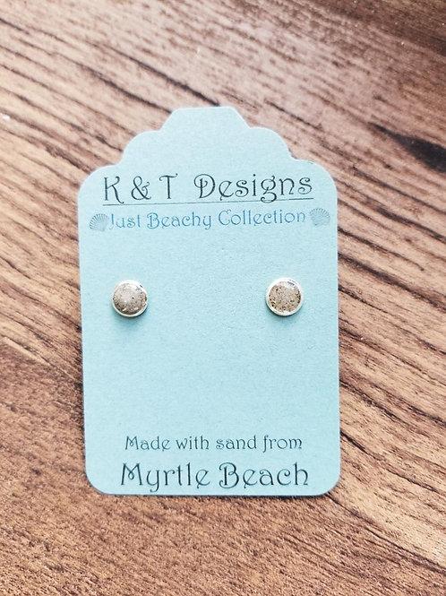 Myrtle Beach Sand Stud Earrings