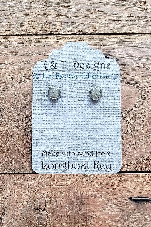Longboat Key Beach Sand Stud Earrings