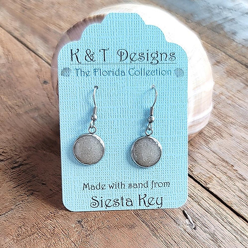 Siesta Key Beach Sand Dangle Earrings