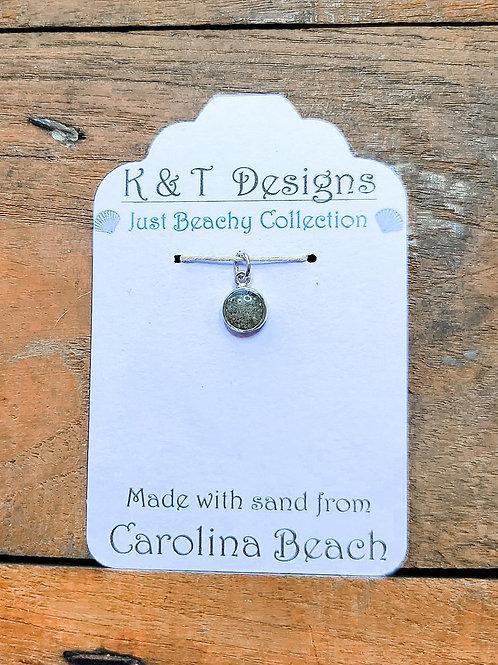 Carolina Beach Sand Small Charm Pendant / Necklace